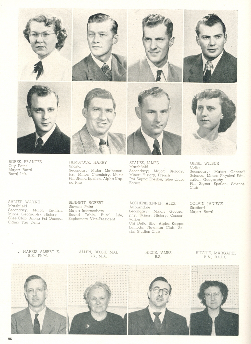 1950 Central State Teachers College Stevens Point Yearbook